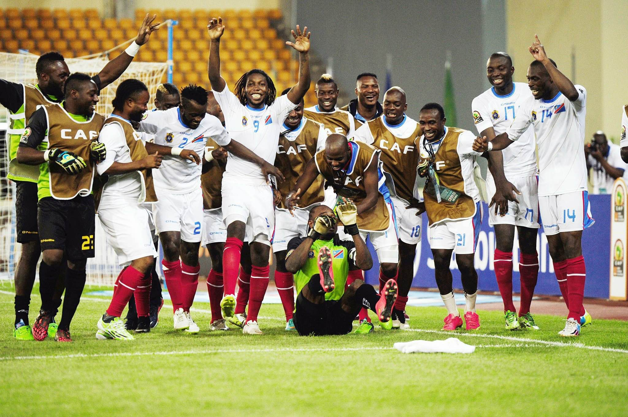 la RDC finit 3ème de la CAN 2015